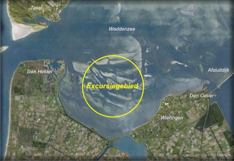Excursie gebied op de Waddenzee